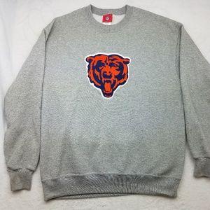 Chicago Bears Gray Crewneck Sweatshirt Large
